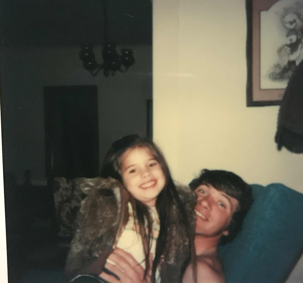 Brandy Ratliff Weatherly is shown with her dad, Dickie Ratliff, in 1979. (Special to The Commercial/Brandy Weatherly)