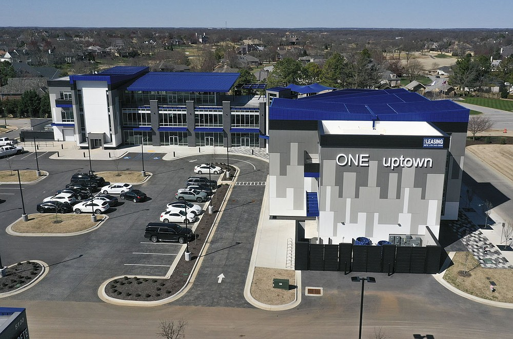The One Uptown development is shown, Friday, March 19, 2021 in Rogers. Check out nwaonline.com/210320Daily/ for today's photo gallery.  (NWA Democrat-Gazette/Charlie Kaijo)