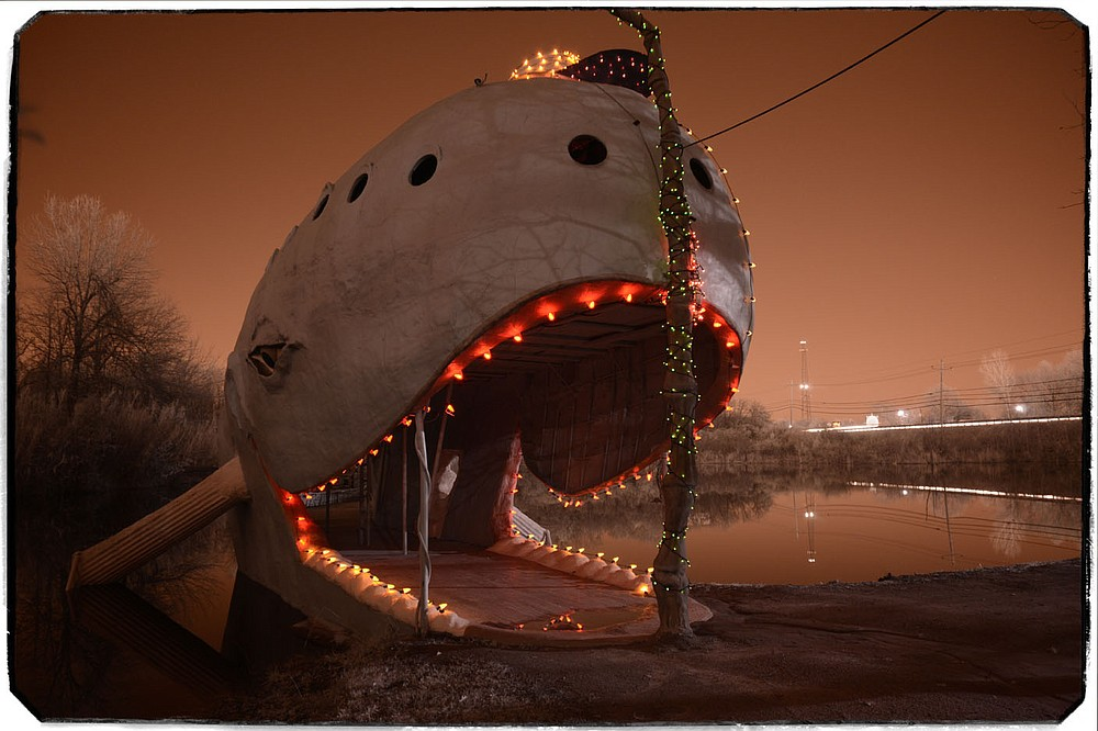 "Rogers photographer Chuck Davis' 2015 image ""Blue Whale"" captures one of the most memorable and whimsical oddities along the historical stretch of Route 66. His photo won first place in the Fort Smith Regional Art Museum's 2021 Invitational, ""Exploring Mindscapes: An Artist's Reflection,"" on show through May 16 at 1601 Rogers Ave. in Fort Smith. Admission is free. Information: (479) 784-2787, fsram.org.  (Courtesy Image/Chuck Davis)"
