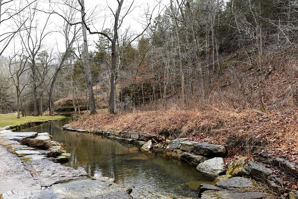 Trails lead to quiet streams and bluffs. (NWA Democrat-Gazette/Flip Putthoff)