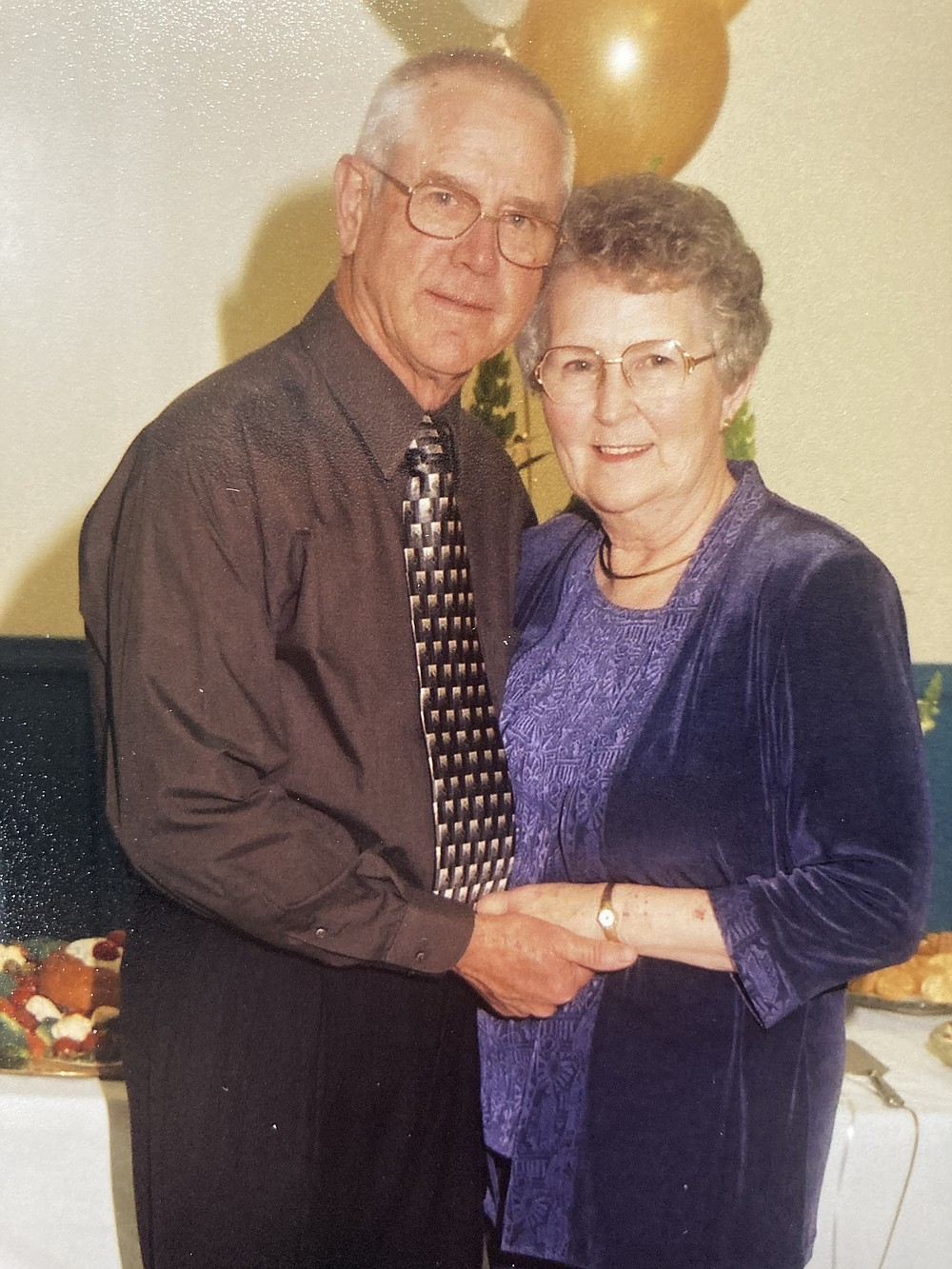 Harold and Dean Staton, shown here at their golden anniversary celebration 17 years ago, both died from covid this winter. (Special to the Commercial)