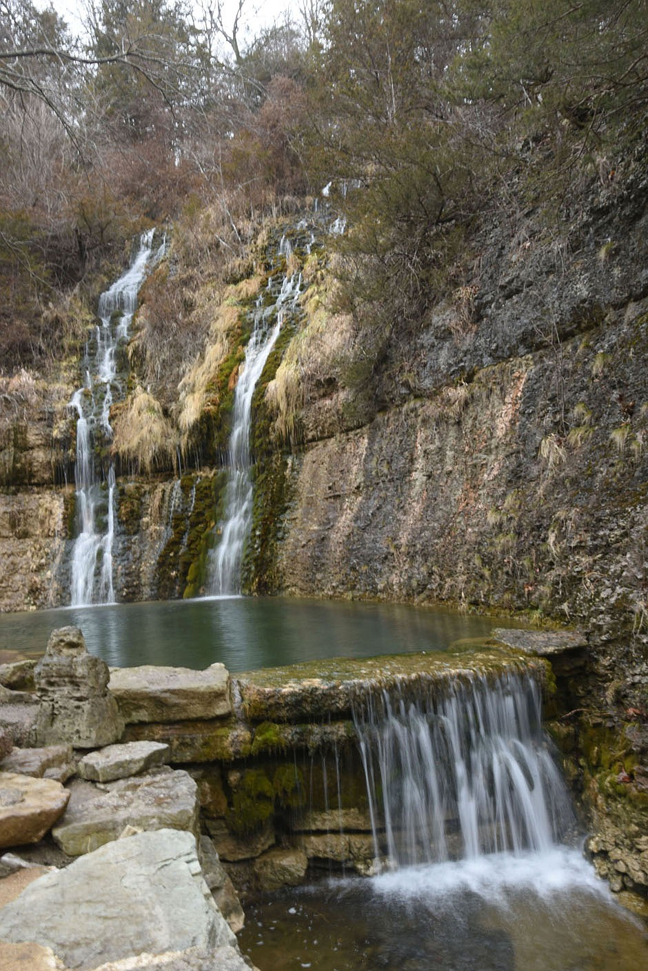 Waterfalls are abundant from one end of the park to the other. (NWA Democrat-Gazette/Flip Putthoff)