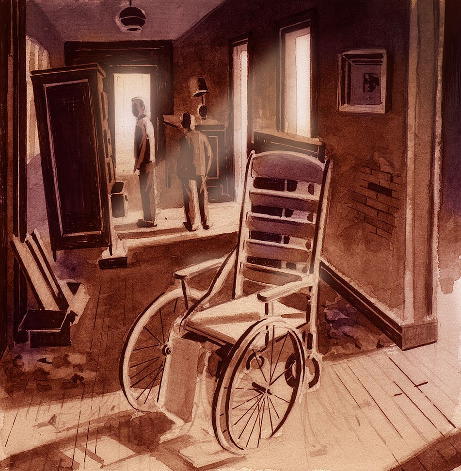"""Memories of its days as a fraudulent cancer hospital linger at the Crescent Hotel in Sean Fitzgibbon's upcoming graphic novel, """"What Follows Is True: Crescent Hotel."""" (Courtesy Image/Copyright Sean Fitzgibbon)"""