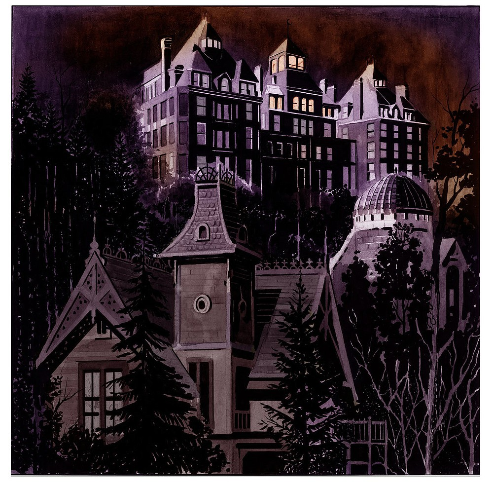 """It was in the 1930s that the history of the Crescent Hotel took the dark turn that fascinates Fitzgibbon. A """"former vaudeville magician, turned inventor, turned millionaire business man, turned populist radio host, turned cancer doctor without a day of medical training in his life,"""" Norman G. Baker, who called himself """"doctor,"""" lured the dying to the Baker Hospital located at the hotel, promising them he could cure them at his """"Castle in the Air."""" (Courtesy Image/Copyright Sean Fitzgibbon)"""