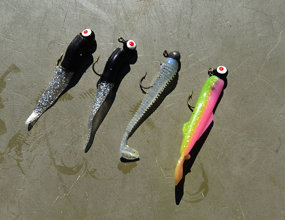 Small lures work for catching crappie at Lake Sequoyah and nearly any lake. (NWA Democrat-Gazette/Flip Putthoff)