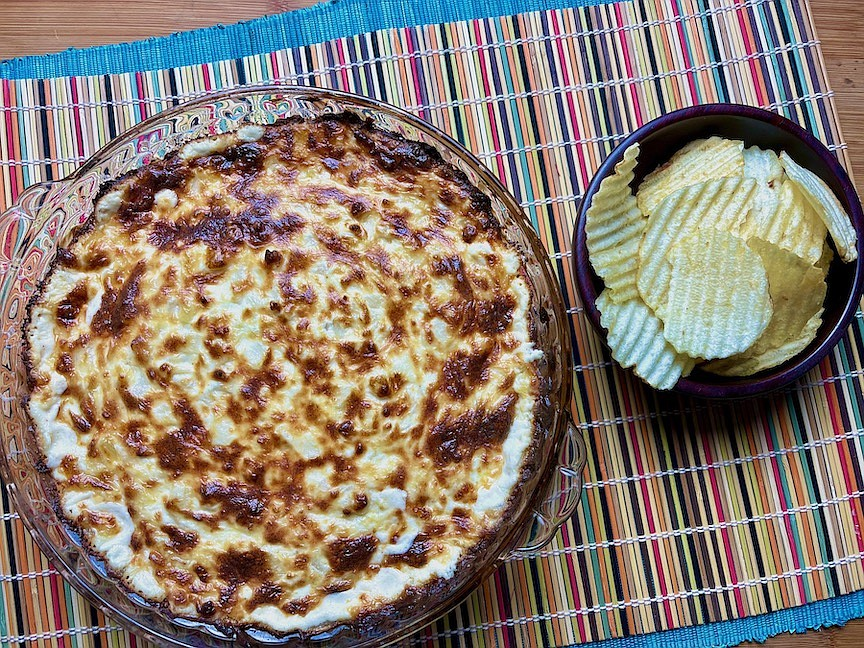 Sally Goss' Baked Onion Dip (Arkansas Democrat-Gazette/Kelly Brant)