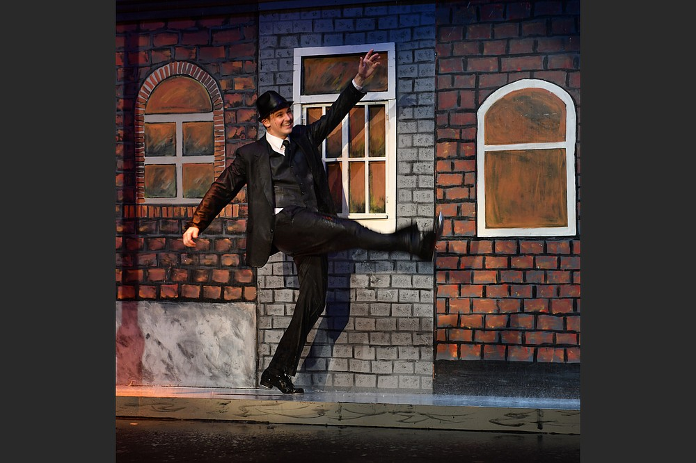 "Alexander Jeffery played Don Lockwood in the South Arkansas Arts Center's 2018 production of the musical ""Singin' in the Rain,"" reprised via the center's website April 16-18. (Special to the Democrat-Gazette)"