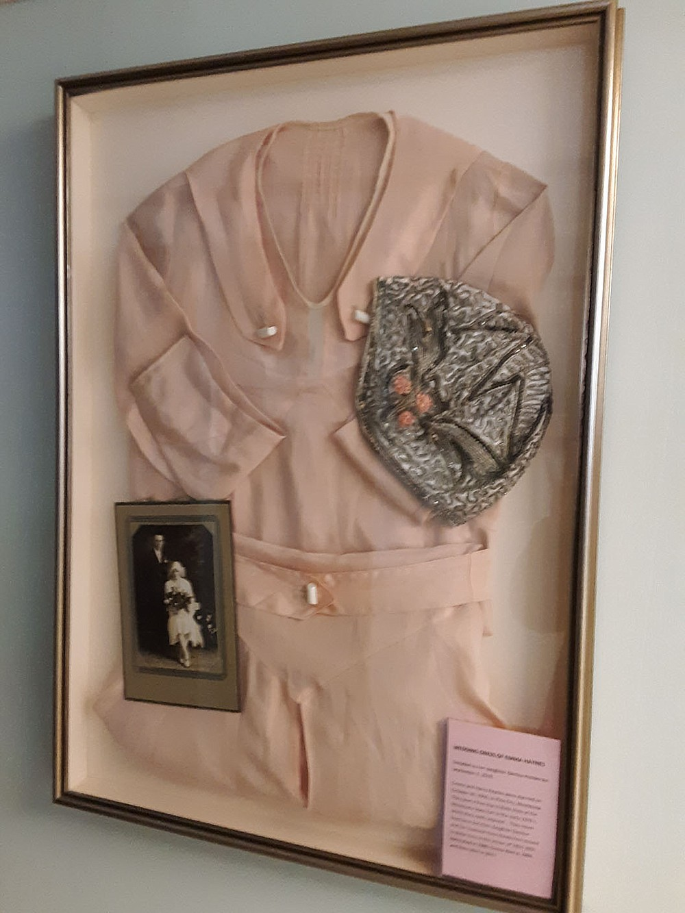 This is the dress worn by the bride when Emma and Harry Haynes were married Oct. 30, 1930, in Pine City, Minn. They visited Bella Vista in the 1970s, having won a free trip at the Minnesota State Fair. The dress was donated to the Bella Vista Historical Museum by daughter Glenice Henderson.  (Courtesy image)