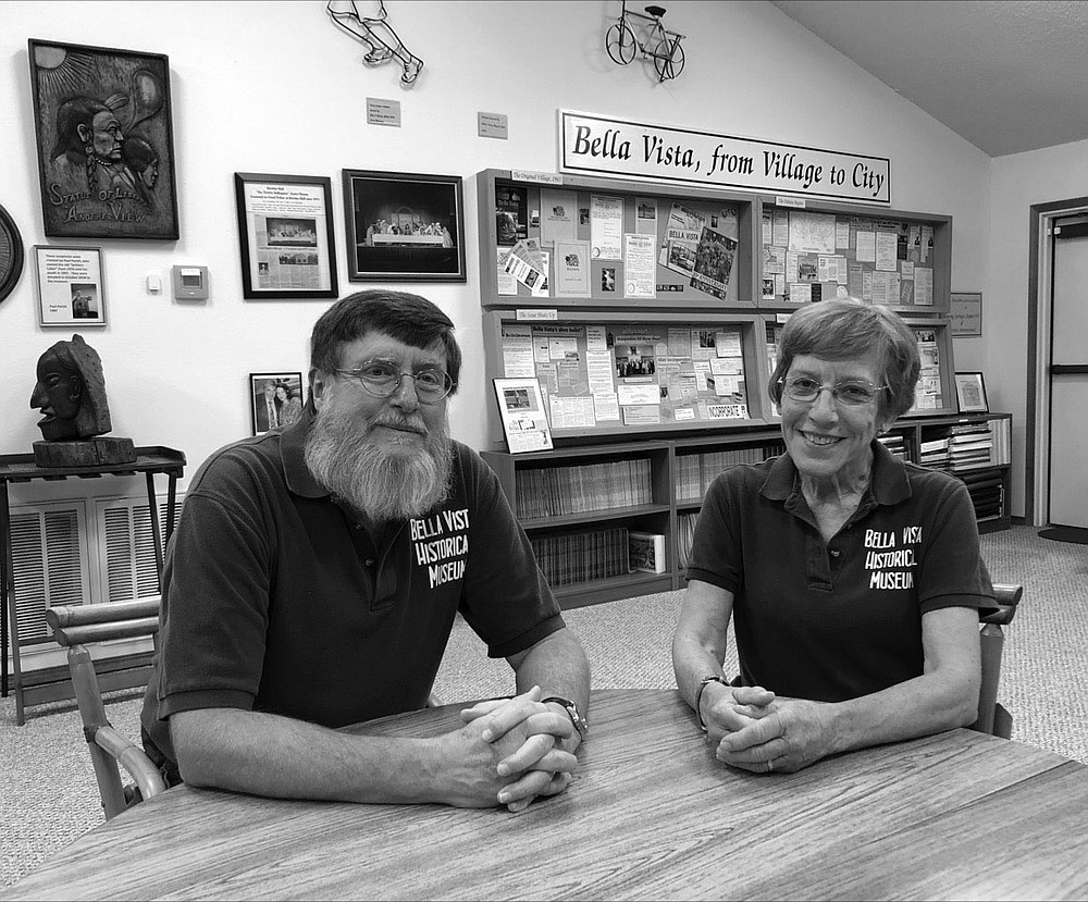Dale Phillips (left) and Xyta Lucas are co-authors of a new pictorial history book about the community of Bella Vista, where they also lead the Bella Vista Historical Society and guide the Bella Vista Historical Museum.  (Courtesy photo)