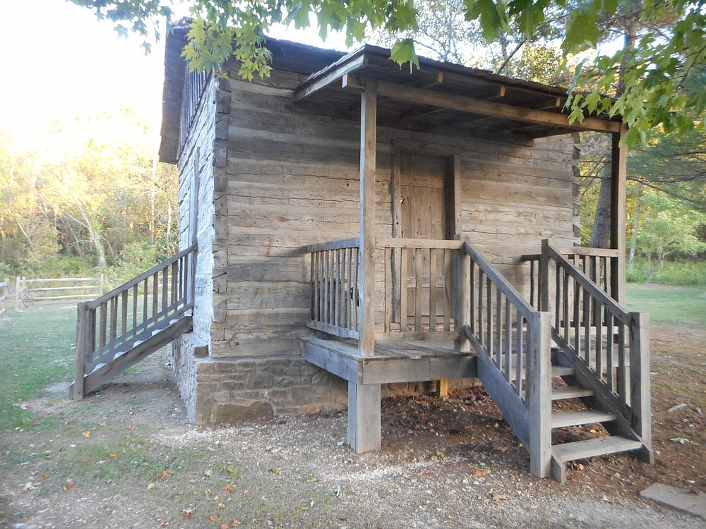 The Settler's Cabin is currently the most popular exhibit at the Bella Vista Historical Museum, according to Xyta Lucas. It was built around 1912 in what became The Highlands of Bella Vista, later used as an art studio and donated to the museum in 2018. It is now fully furnished, thanks to donations and the work of volunteer Carol Phillips.  (Courtesy photo)
