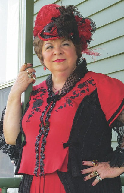 """A new actress on this year's """"Walk Through Time"""" is Carolyn Joyce, who will tell the audience about the infamous madam, Miss Laura. Joyce worked for several years in the Tourism Office for the city of Fort Smith, and this is her first time on the tour since her retirement.  (Courtesy Photo)"""