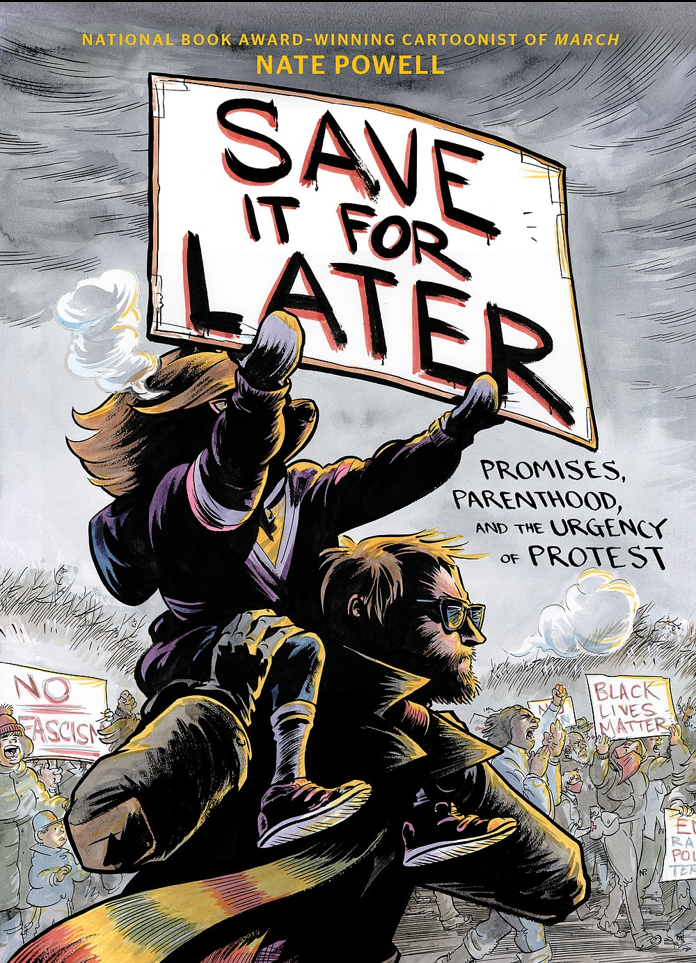 "Originally from North Little Rock, artist and essayist Nate Powell has won awards for his graphic novels. His most recent, ""Save It for Later: Promises, Parenthood and the Urgency of Protest,"" was released April 6.  (Courtesy photos)"