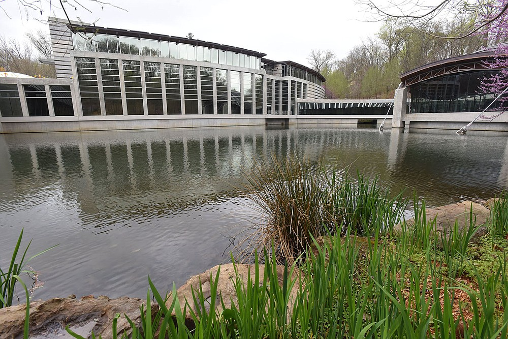 A major expansion at Crystal Bridges Museum of American Art in Bentonville, seen here on Wednesday April 7 2021, will expand the size of the current museum by 50 percent. Go to nwaonline.com/210408Daily/ to see more photos. (NWA Democrat-Gazette/Flip Putthoff)