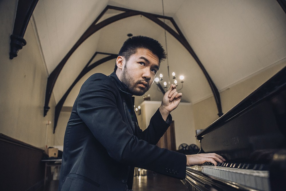 """Pianist Conrad Tao plays Sergei Rachmaninoff's """"Piano Concerto No. 4"""" for the orchestra's annual """"Beethoven & Blue Jeans"""" concerts in November. (Special to the Democrat-Gazette)"""