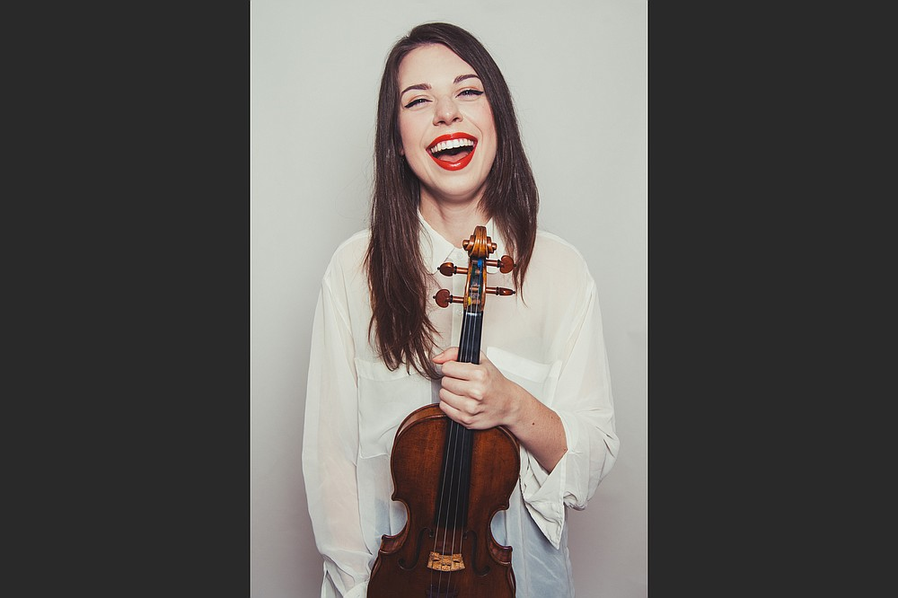 """Violinist Tessa Lark plays Michael Torke's Michael """"Sky (Concerto for Violin & Orchestra)"""" for May Masterworks concerts and, as the orchestra's 2021-22 Richard Sheppard Arnold Artist of Distinction, will join orchestra members for a chamber concert the following week. (Special to the Democrat-Gazette)"""