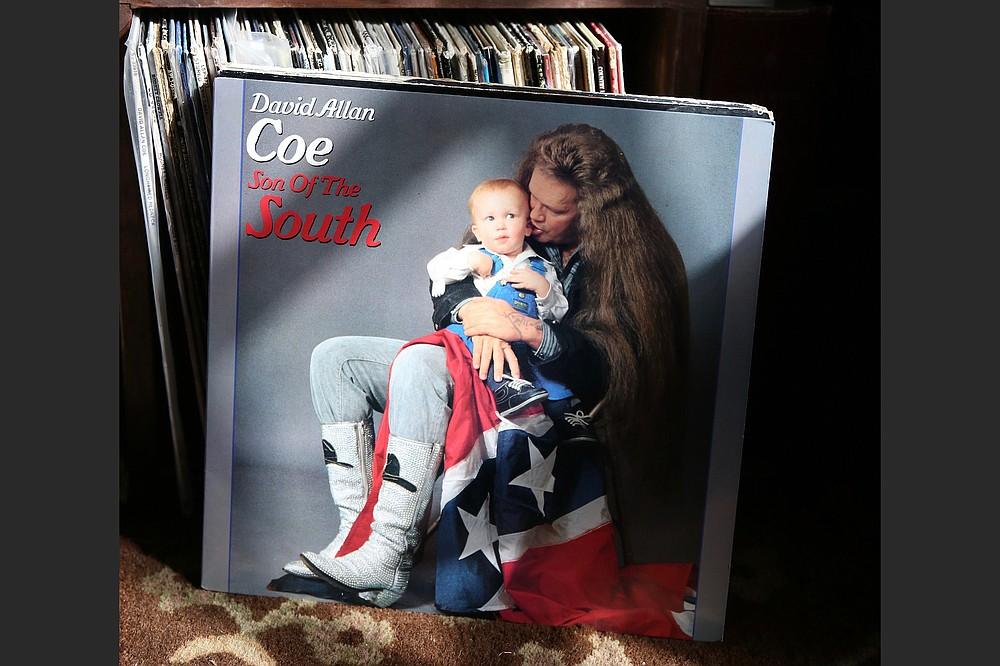 """Tyler Mahan Coe was featured on the cover of his father's 1986 album """"Son of the South."""" (Lila Hempel-Edgers)"""