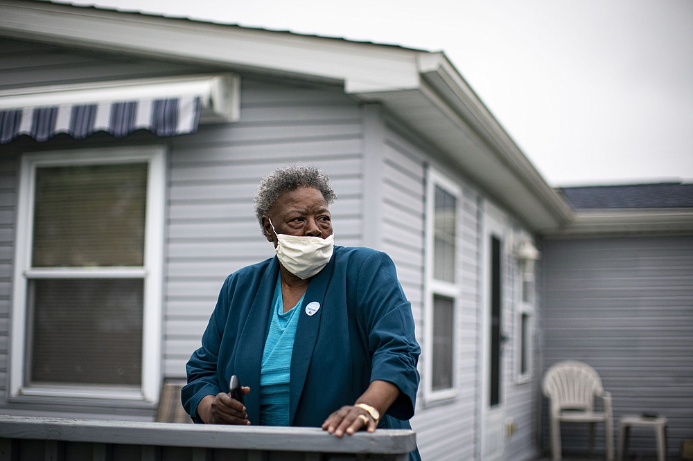 Joyce Logan lives in a house that backs up to the fields around the Mountaire Farms plant, which contaminated residents' groundwater for years. MUST CREDIT: Photo for The Washington Post by Al Drago