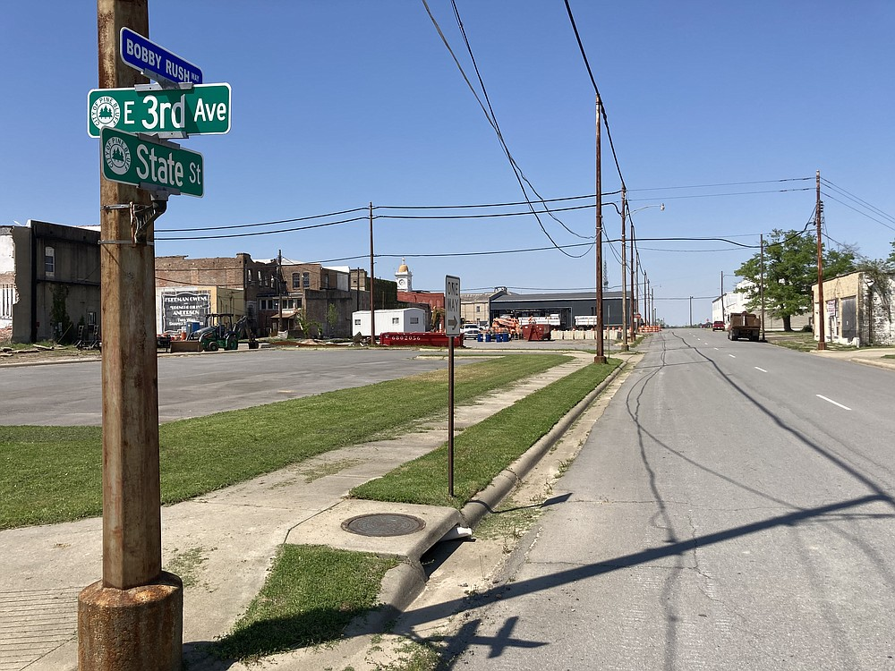 A tourism development that focuses on Pine Bluff's heritage, art and culture would include the area around Third Avenue and State Street. (Pine Bluff Commercial/Byron Tate)