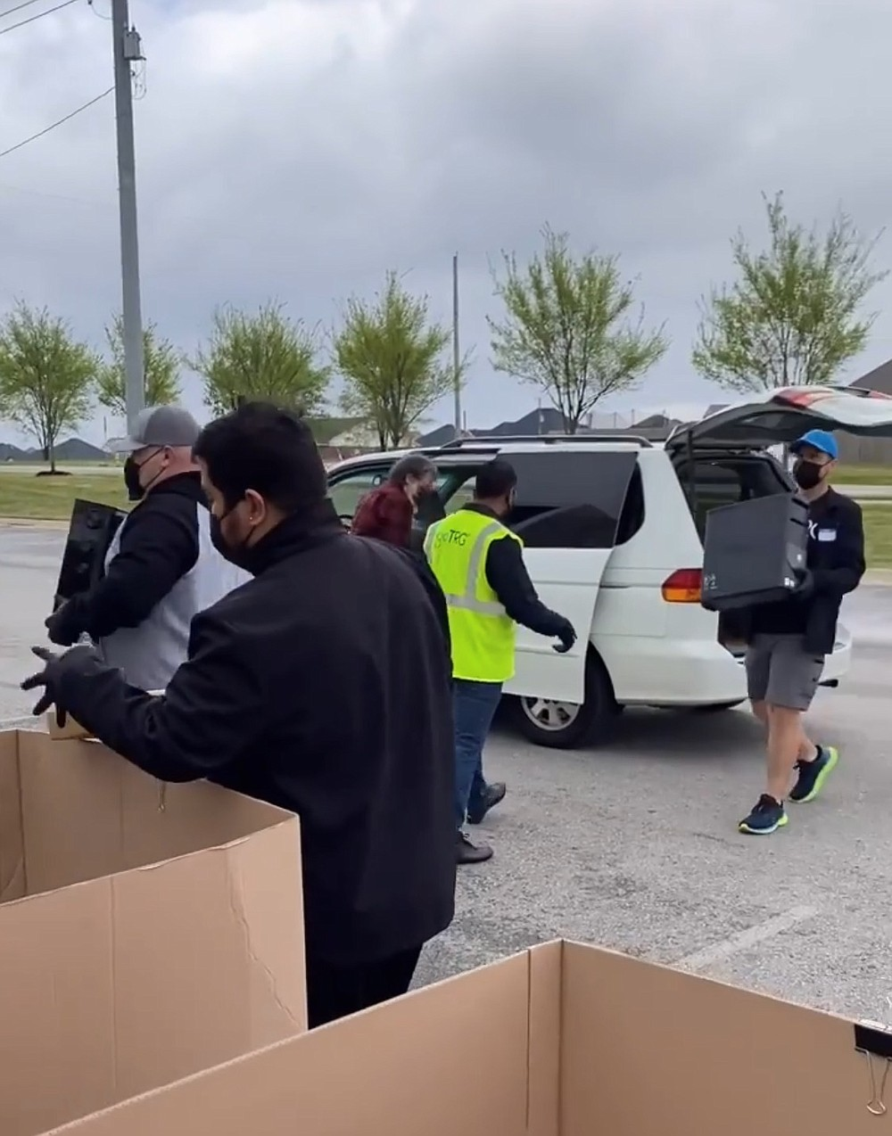 In recognition of Earth Day, goTRG hosted a drive-through community electronics recycling drive at its Bentonville location. A leading retail returns management company working with Walmart, Lowe's, Lenovo and other top U.S. retailers, goTRG processes over 100 million items each year, refurbishes 30+ million electronics and was just named to Fast Company's Most Innovative Companies for 2021.  (Courtesy Photo)