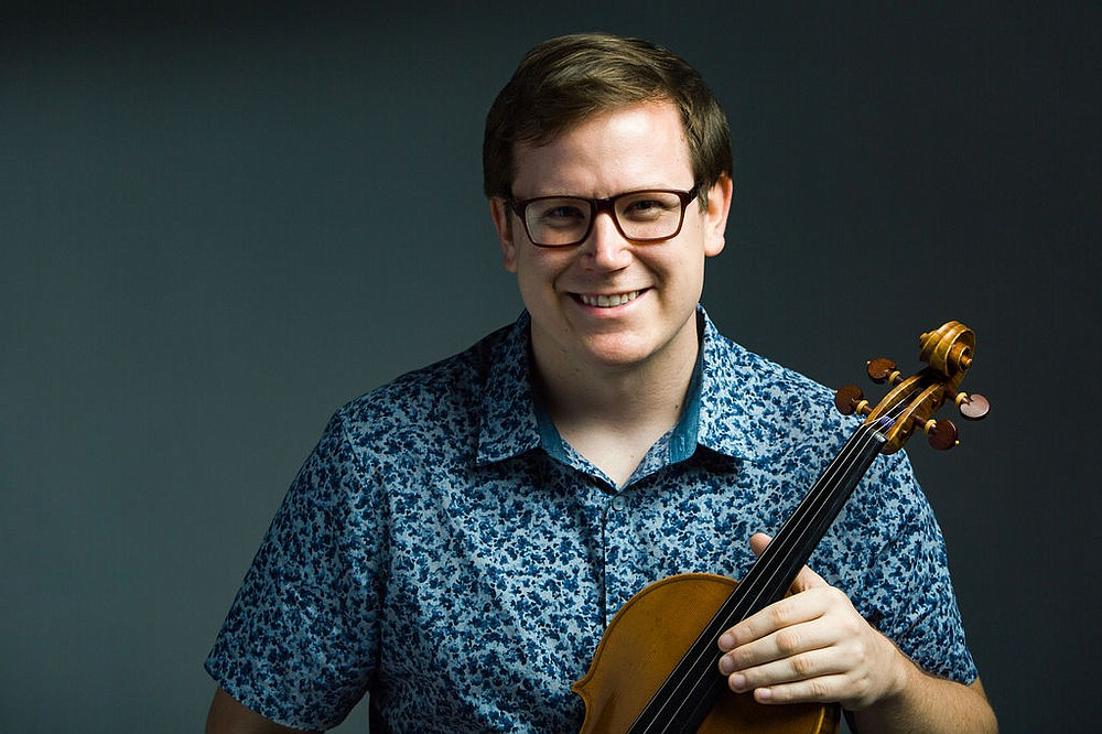 "Timothy MacDuff will be the viola soloist in Mozart's ""Sinfonia Concertante"" with the orchestra Saturday and Sunday at Little Rock's Robinson Center Performance Hall. (Special to the Democrat-Gazette)"