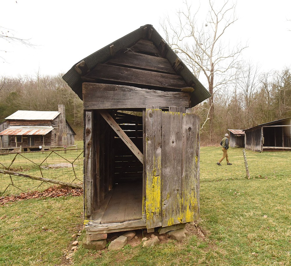Outbuildings are numerous at the farmstead. (NWA Democrat-Gazette/Flip Putthoff)