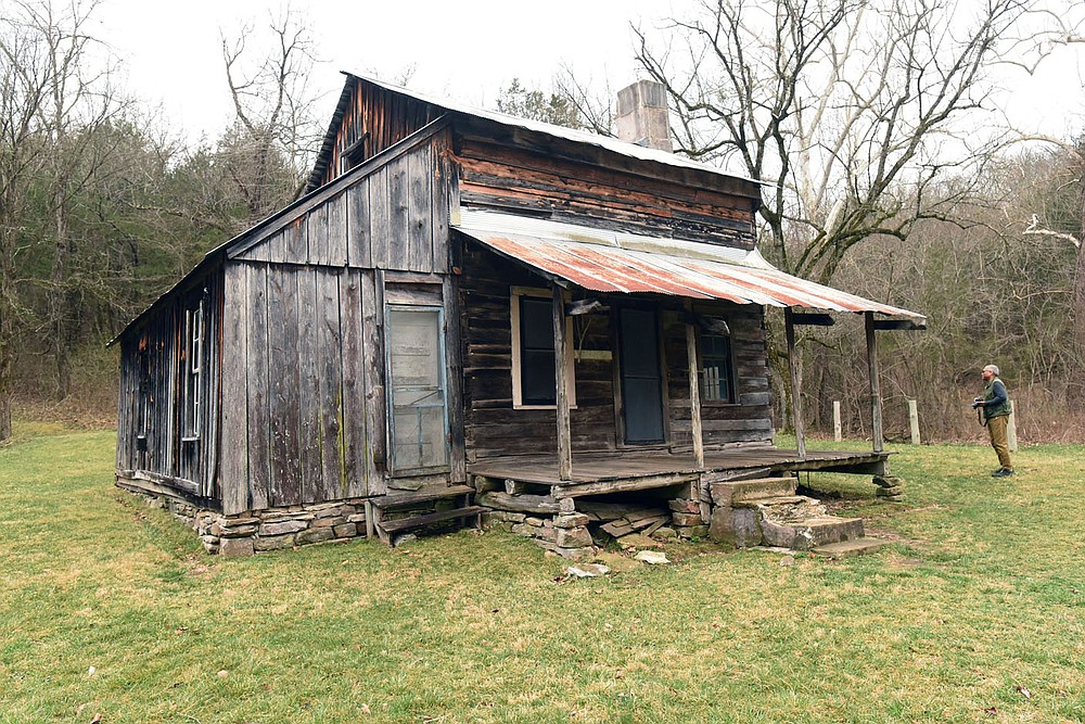Additions were built on to the original log home. The J.D. Hickman family was the last to occupy the farmstead, from 1912 to 1978. (NWA Democrat-Gazette/Flip Putthoff)