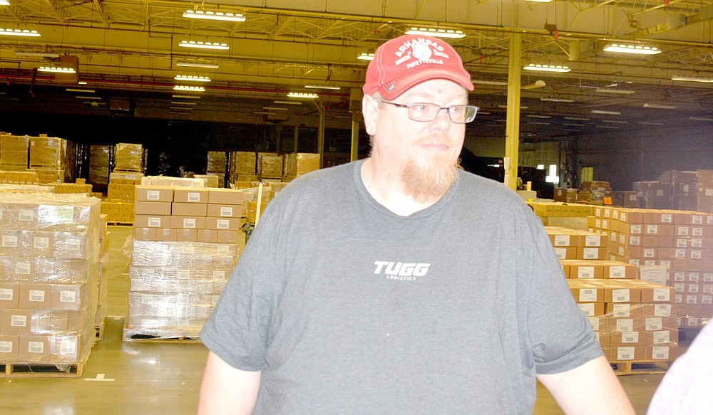 Marc Hayot/Herald-Leader Floor Lead Melvin Sharp shares a connection with Franklin Electric: his mother Beverly Sharp worked at Franklin Electric for almost 35 years. She worked on the floor for several years before moving to the parts room.