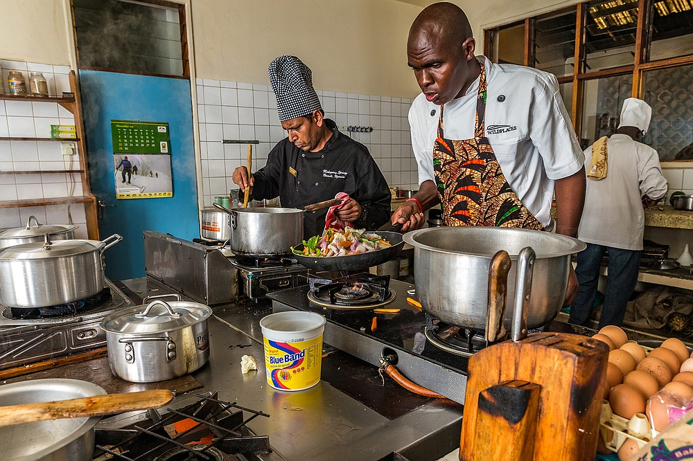 Chefs take part in the annual Gorilla Highlands Silverchef cooking competition and networking event in Kisoro, Uganda. (Courtesy of Marcus Westberg)