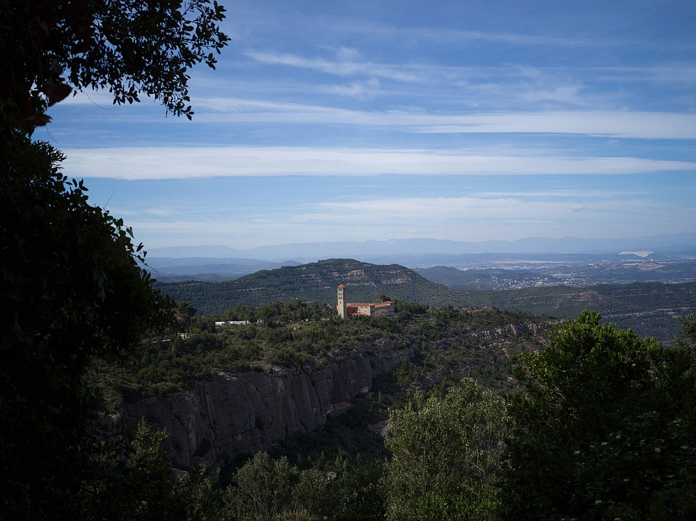 Sant Benet de Montserrat, the monastery where the Catholic nun and doctor Sister Teresa Forcades lives, in Montserrat, Spain, March 22, 2021. Forcades, Spain's most famous Catholic nun, is one of Europe's longstanding vaccine skeptics, finds herself at odds with governments, medical experts and even Pope Francis. (Samuel Aranda/The New York Times)