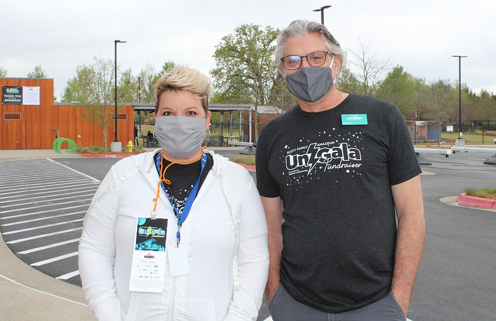 Jennifer Cozens and Paul Stolt Amazeum UnGala (NWA Democrat-Gazette/Carin Schoppmeyer)