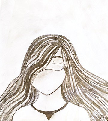 The Lonely Girl is by Kaitlyn Banes. The piece is displayed in the 2021 Pine Bluff High School art exhibit at the Arts & Science Center for Southeast Arkansas. (Special to The Commercial)