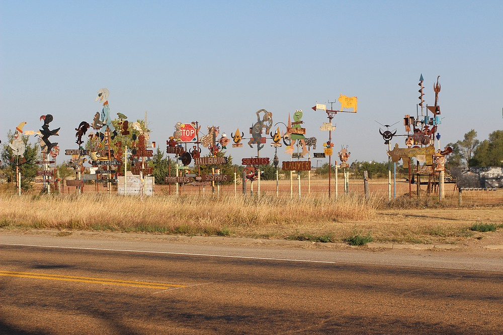 Dodge City, Kan., one of Rita Omokha's stops on her cross-country road trip in October. (The Washington Post/Rita Omokha)