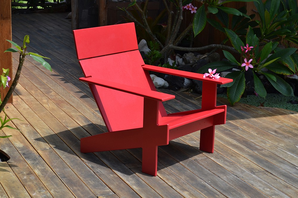 Loll Designs' Lollygagger Lounge Chair ($595) is made from recycled materials. (Courtesy Loll Designs via The Washington Post)