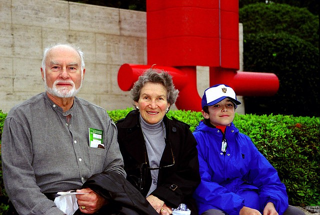 Edmond Freeman, his wife June and their grandson Isaac, on a trip to Japan in 2000. (Special to The Commercial)