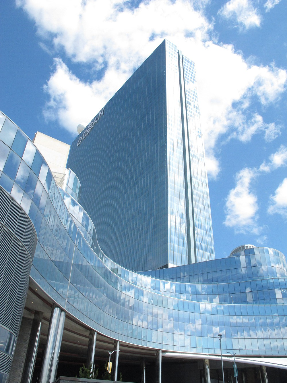 This April 30, 2021 photo shows the exterior of the Ocean Casino Resort in Atlantic City N.J. Ocean is among numerous Atlantic City casinos reinvesting millions into their operations amid the coronavirus pandemic. (AP Photo/Wayne Parry)