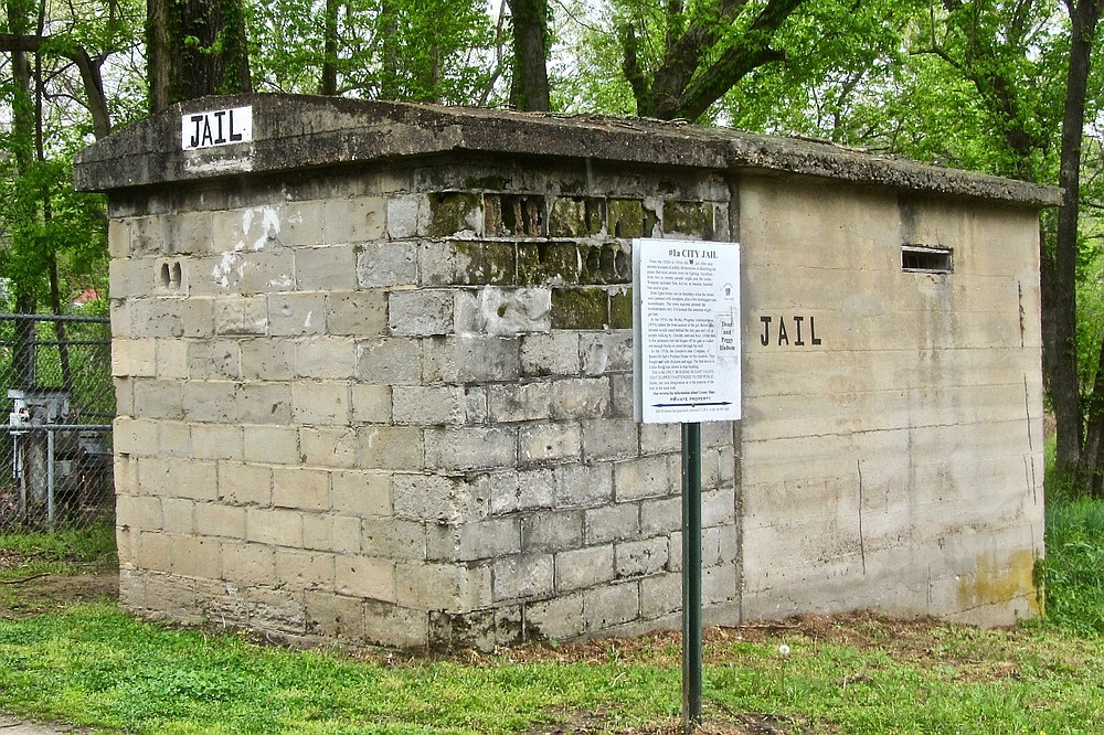 The old city jail was used in Calico Rock until the 1950s, mostly for brawlers. (Special to the Democrat-Gazette/Marcia Schnedler)