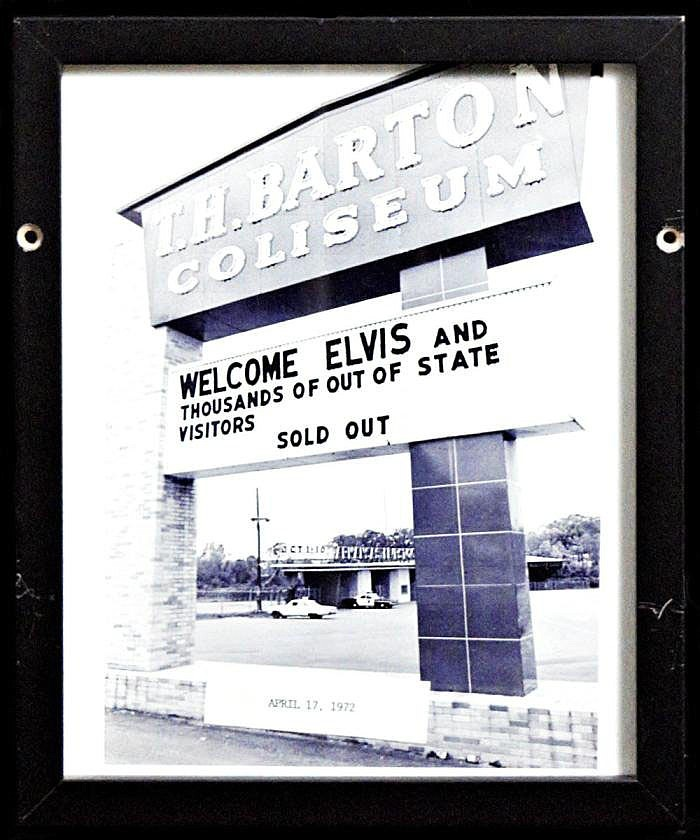 Elvis Presley played a sold-out show at Barton Coliseum in 1972.