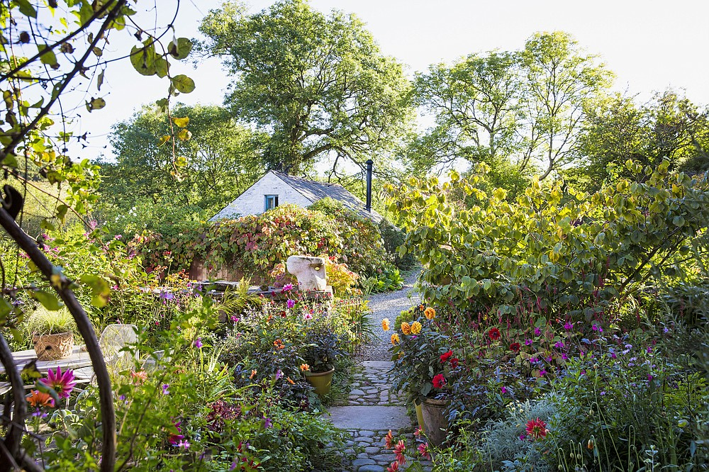Author and tour organizer Carolyn Mullet finds a defining softness in European gardens granted by the emphasis on plants. At Dyffryn Fernant in Wales, the owner has transformed a neglected site into many discrete garden spaces. (Claire Takacs via The Washington Post)