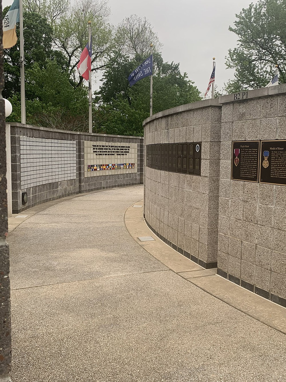 Photo by Sally Carroll/Special to The Weekly Vista The Veterans Wall of Honor, located at 103 Veterans Way in Bella Vista, offers solace and comfort to all who visit, said Lisa Watten, whose father served as architect for the project.