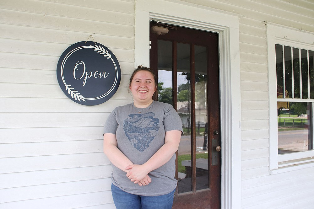 LYNN KUTTER ENTERPRISE-LEADER Mollie Hutchins of Prairie Grove is the volunteer manager for the new Prairie Grove Heritage Museum on Buchanan Street. She has been interested in history since she was 9 years old.