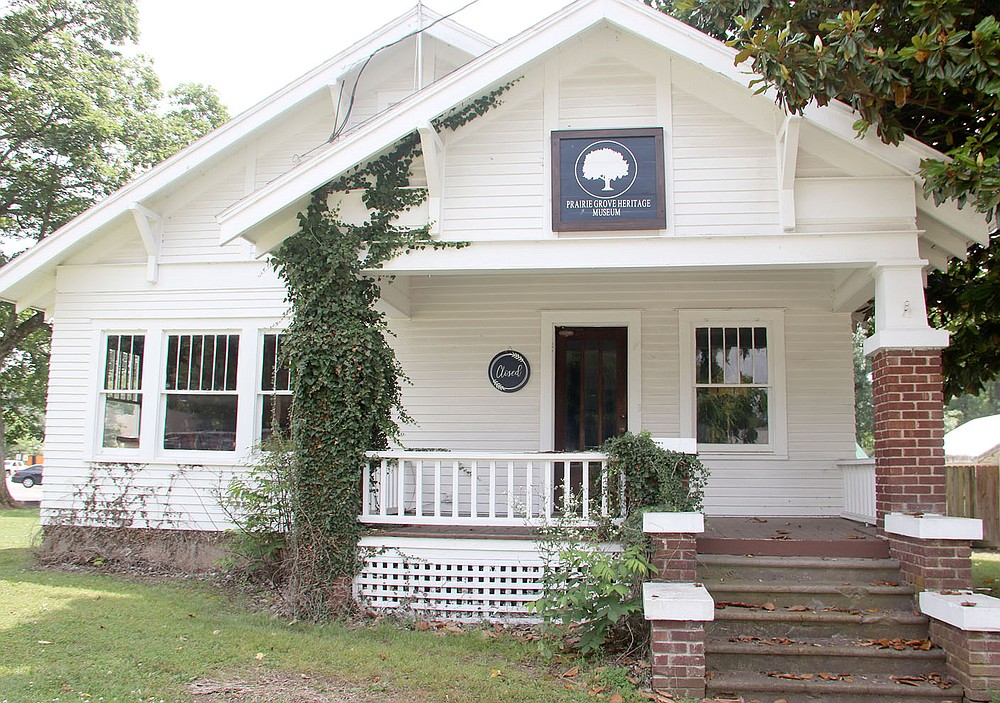 LYNN KUTTER ENTERPRISE-LEADER The new Prairie Grove Heritage Museum at 311 E. Buchanan is open from 9 a.m. to noon every Saturday.