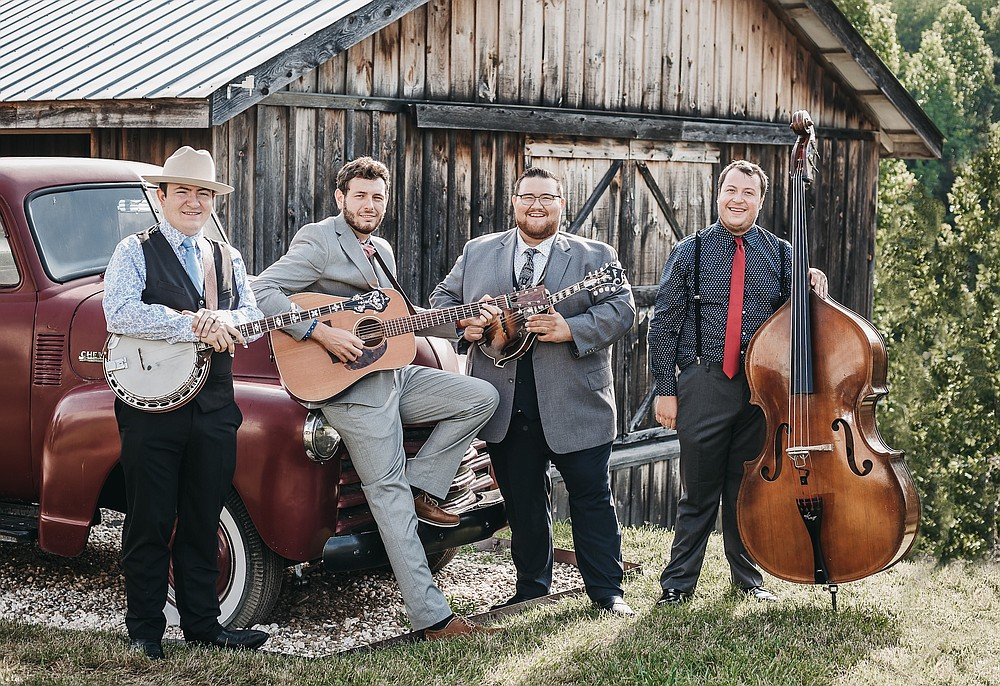 Seth Mulder and Midnight Run — (from left) Colton Powers, Ben Watlington, Seth Mulder and Max Etling — performs Monday at the Collins Theatre in Paragould, part of Jonesboro public radio station KASU's resuming Bluegrass Monday series. (Special to the Democrat-Gazette)