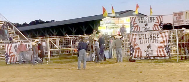 Marc Hayot/Herald-Leader The Stilwell Strawberry Festival Rodeo was held on May 8. One of the rodeo's top sponsors was Realty Mart.