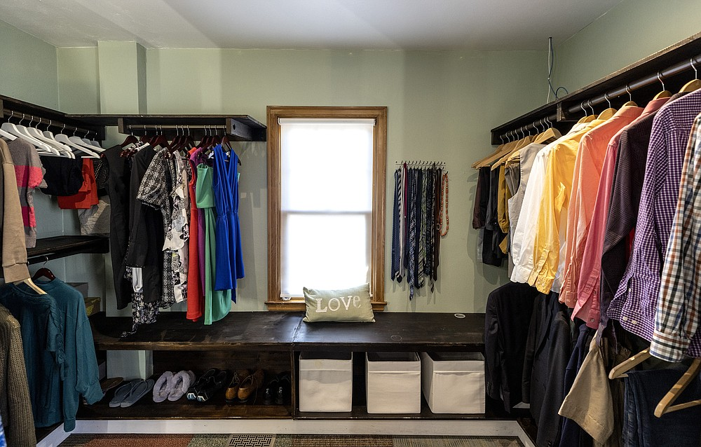 The Falade couple's remodeled bathroom includes a large closet. (TNS/Minneapolis Star Tribune/Carlos Gonzalez)