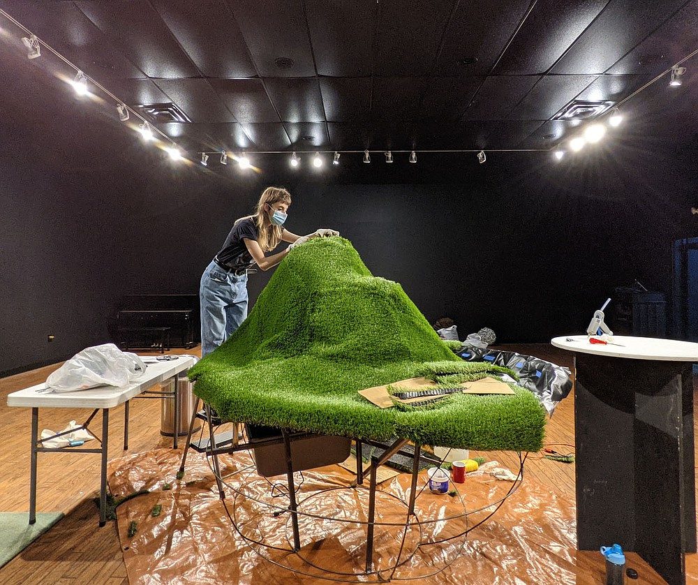 """Sculptor Natalia Franco brings to life a piece of her imagination land of Goop World with her installation """"Goop Chunk."""" The piece will be the centerpiece of curator Omar Bravo's playful and quirky exhibition """"(a)Typical Sanctuary.""""  (Courtesy Photo/Omar Bravo)"""
