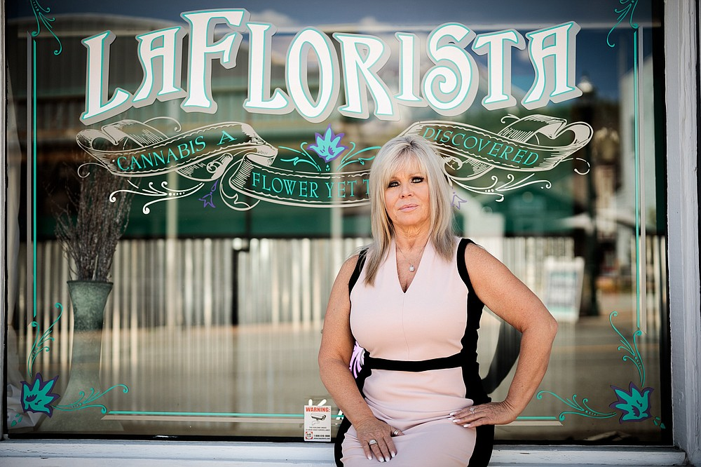 Elizabeth Tabor is the owner of the town's first dispensary, La Florista, which began as a medical marijuana business but is now permitted to sell to all adults. (The New York Times/Max Whittaker)