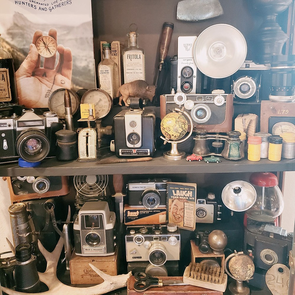 Kelly Elliott, an avid vintage and antique camera collector, is bringing some items from her own well-curated collection to sell at The Junk Ranch, but that's not all you'll find in her booth. This eclectic vendor offers a huge variety of vintage smalls and collectibles.  (Courtesy photo)
