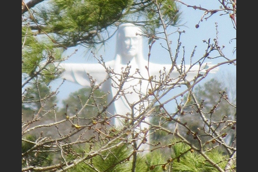 Christ of the Ozarks is visible from various vantage points in Eureka Springs. (Special to the Democrat-Gazette/Marcia Schnedler)