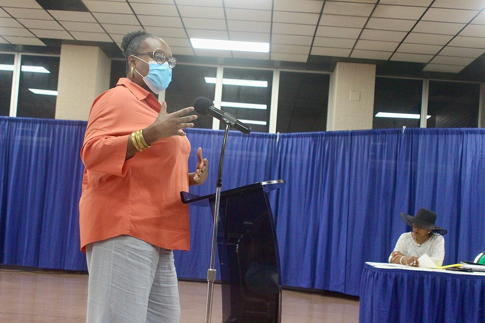 State Rep. Vivian Flowers who is also chair of The United Citizens of Pine Bluff group shared a different perspective of the data that she said is often not reflected in the media. (Pine Bluff Commercial/Eplunus Colvin)