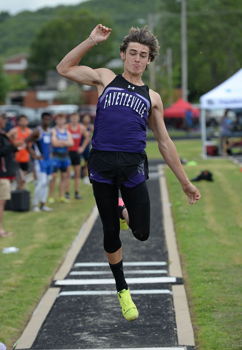 Sam Hurley of Fayetteville was chosen as the all-NWADG boys track athlete of the year. (NWA Democrat-Gazette/Andy Shupe)